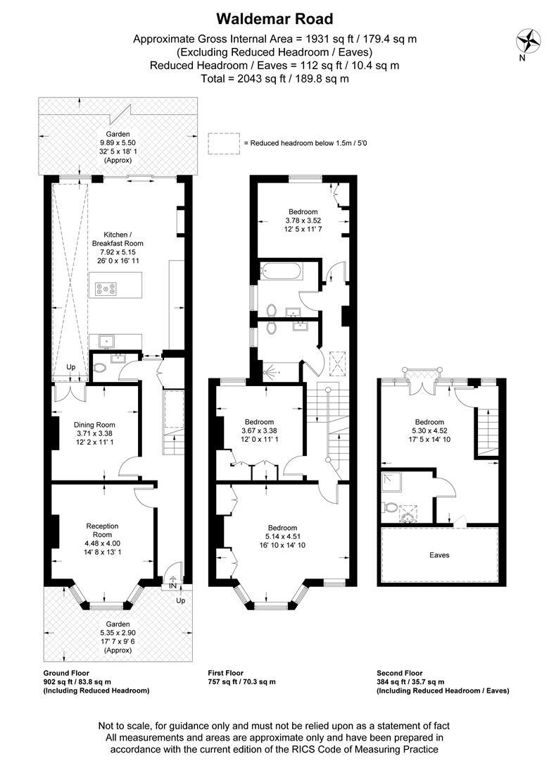 Floorplan for Waldemar Road, Wimbledon